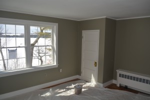 After - the new Casco Bay room.  We saw some folks walking on the lake just after we snapped this shot.