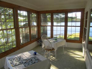 The old sun room.