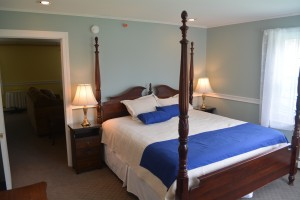 The new Acadia suite bedroom.