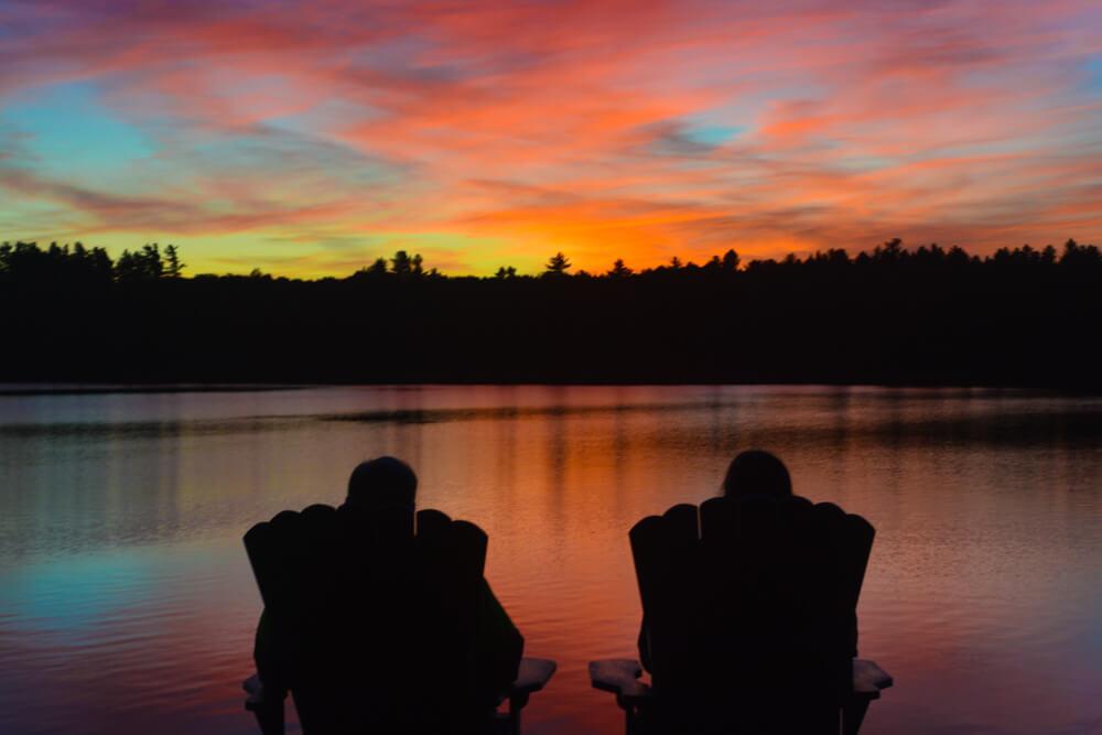 Sunset on Tripp Lake