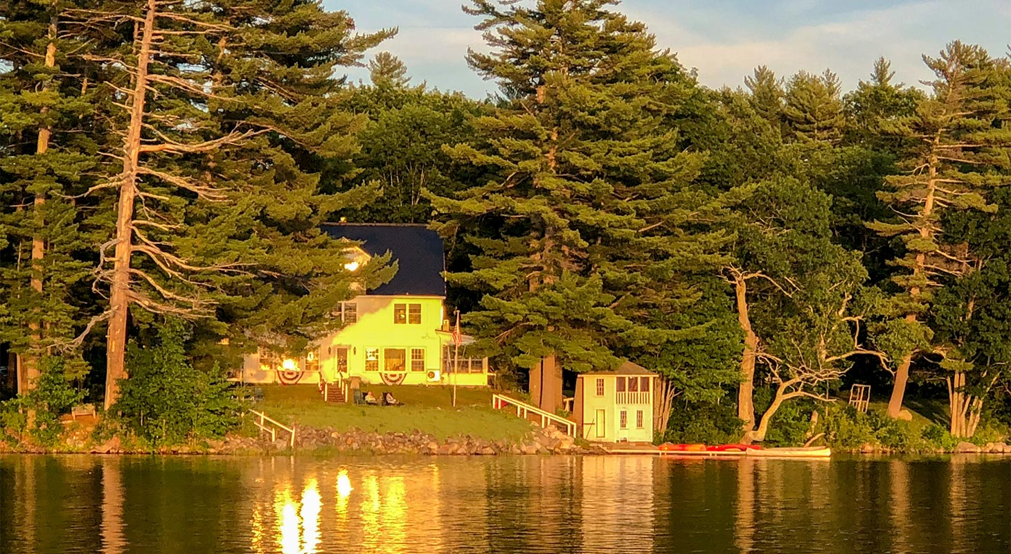 Wolf Cove Inn exterior from the water