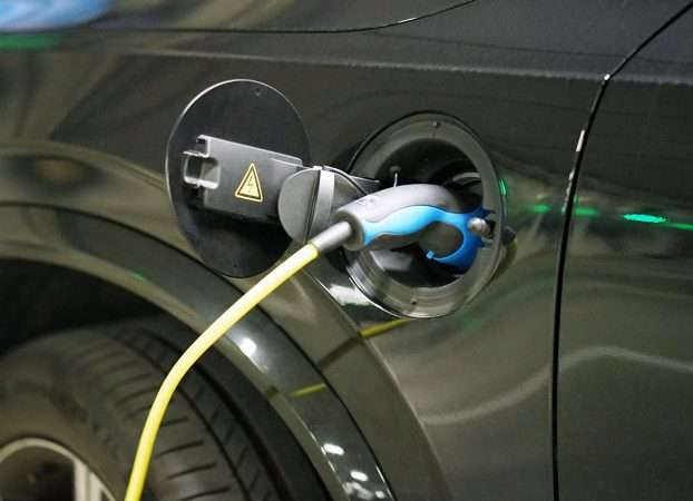 Car plugged into charger