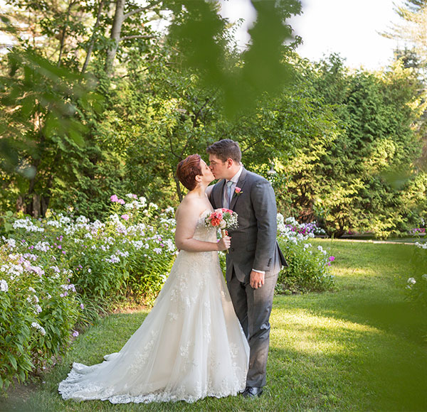 Couple Kissing in the Gardens