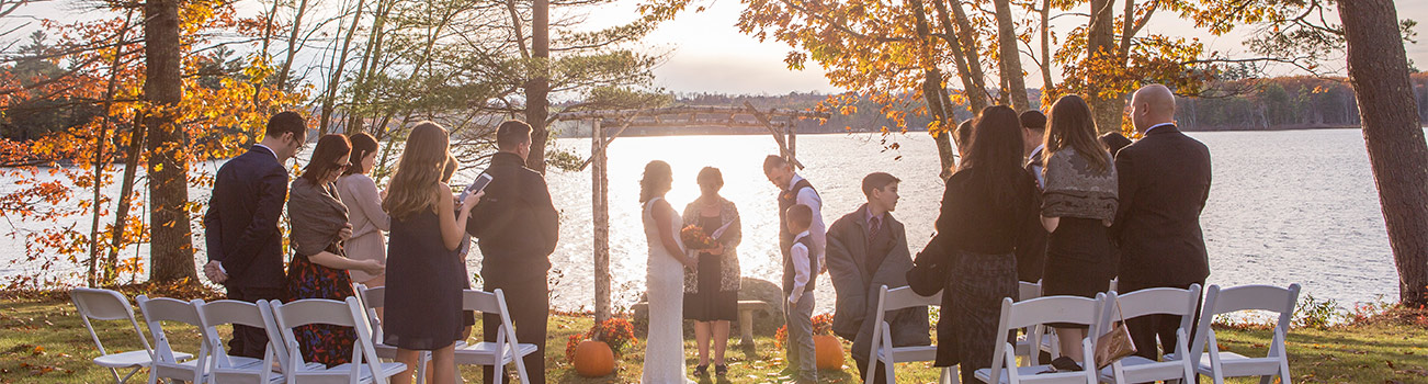Intimate Wedding at Wolf Cove Inn during Fall