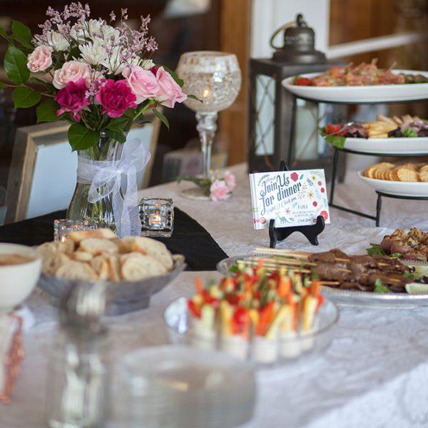 Food at a Wedding Reception