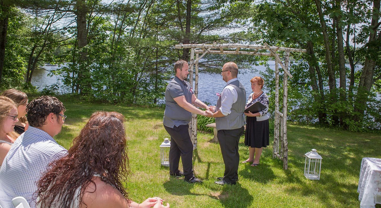 Gay Intimate Wedding Lakeside