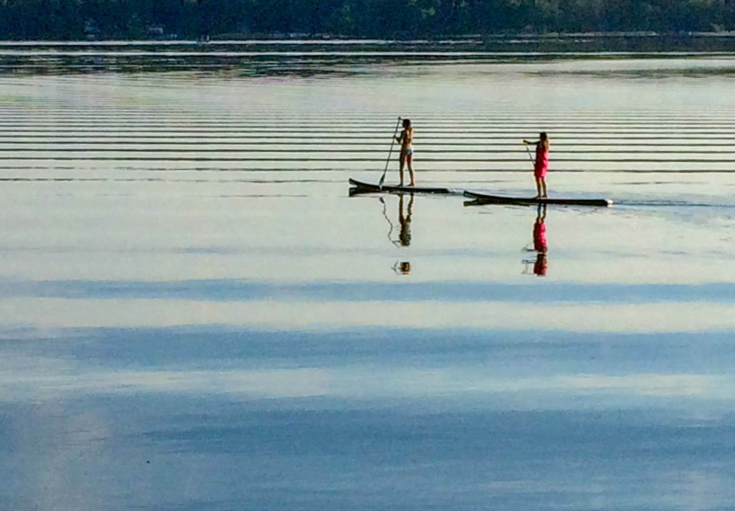 Stand Up Paddle Boarding On Tripp Lake