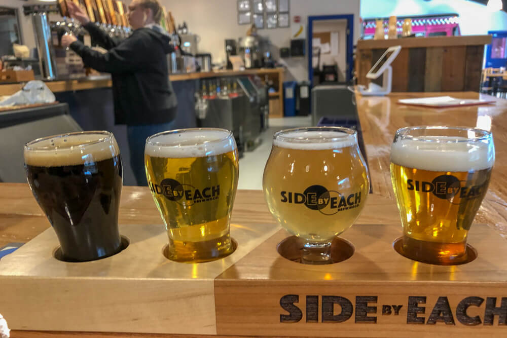 Maine Breweries - Side By Each