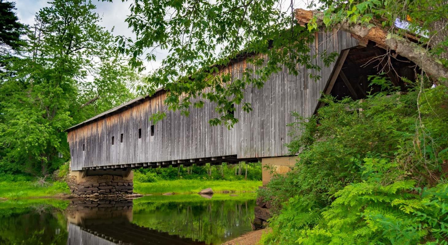 Maine Covered Bridges - Hemlock Bridge In Fryeburg Maine