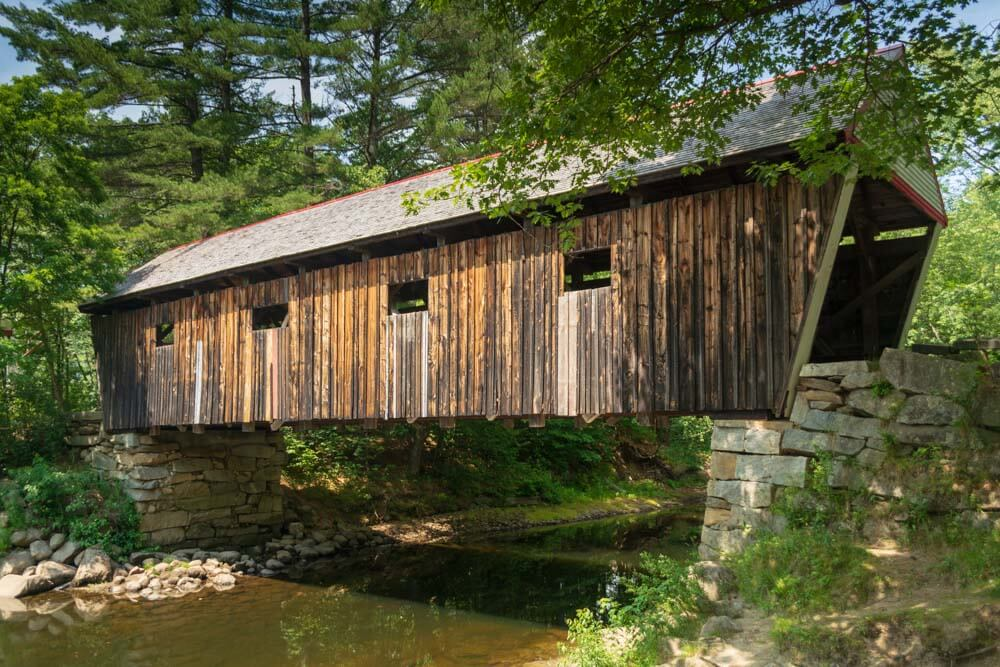 Lovejoy Maine Covered Bridge in Andover Maine