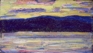 Marsden-Hartley Sundown Kezar Lake painting