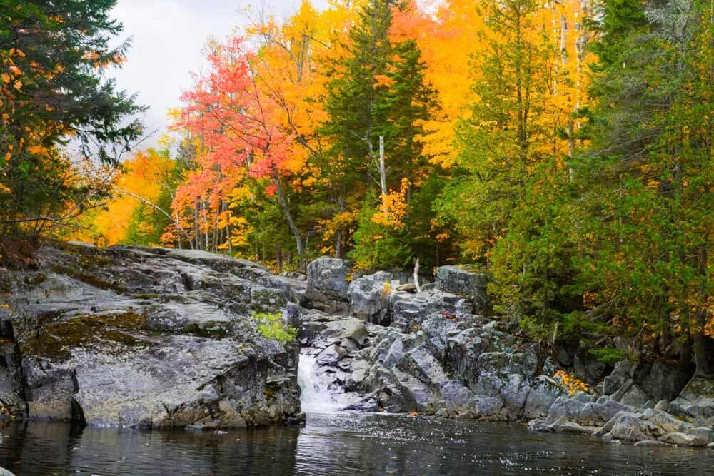 West Mountain Carrabassett Valley Maine Waterfall
