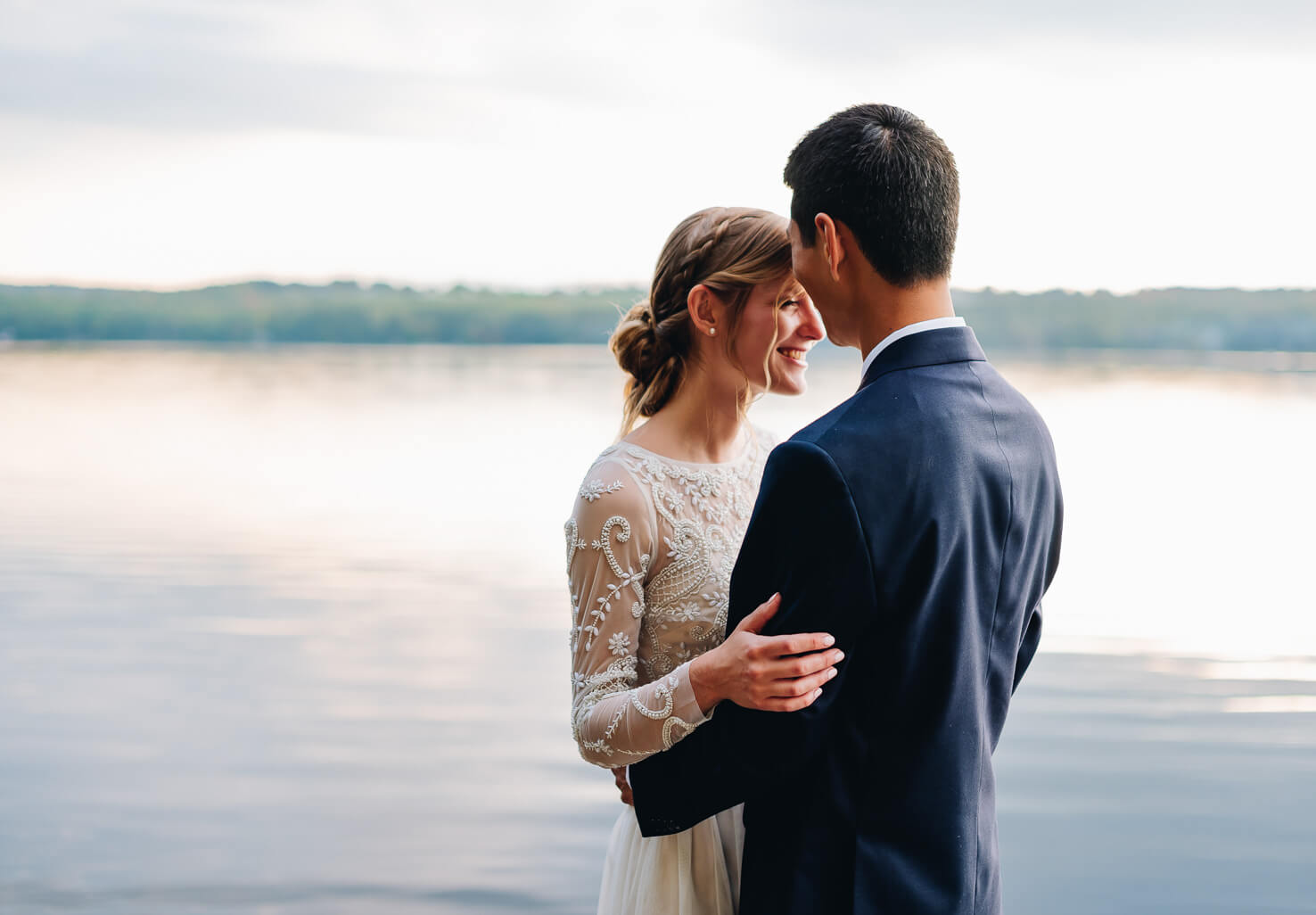 Lakeside Elopement Couple
