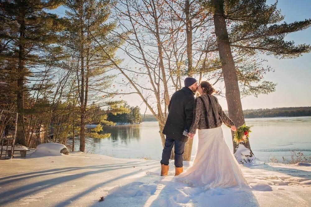 Winter Elopement At Wolf Cove Inn