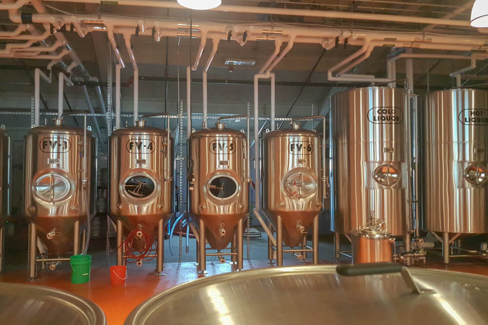 Brewing vats at Side By Each Brewing
