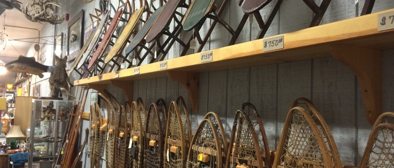 Antiquing for Sleds and Snowshoes