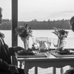 A happy couple enjoying dinner at our Maine B&B
