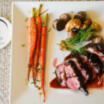Duck with vegetables served at our Romantic Maine Bed and Breakfast