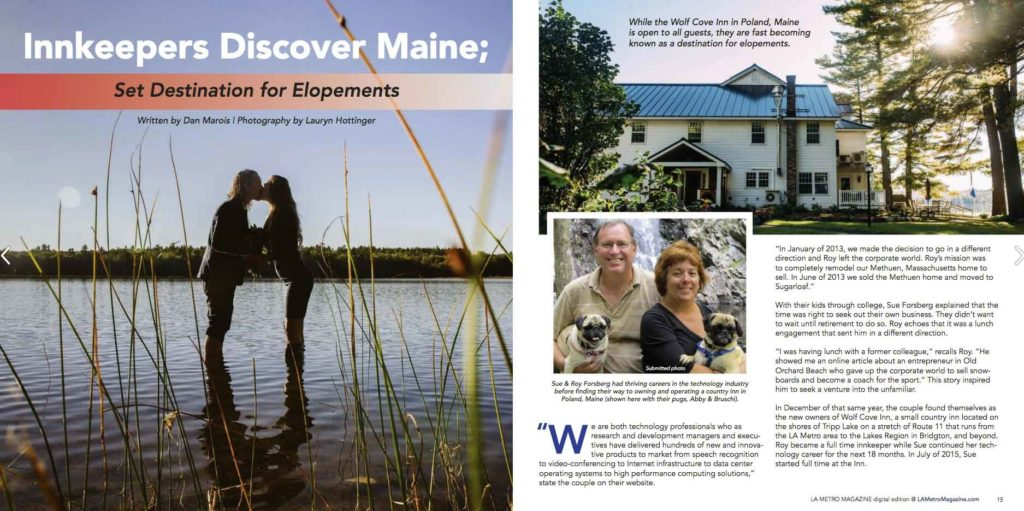 News coverage of our romantic small weddings in Maine