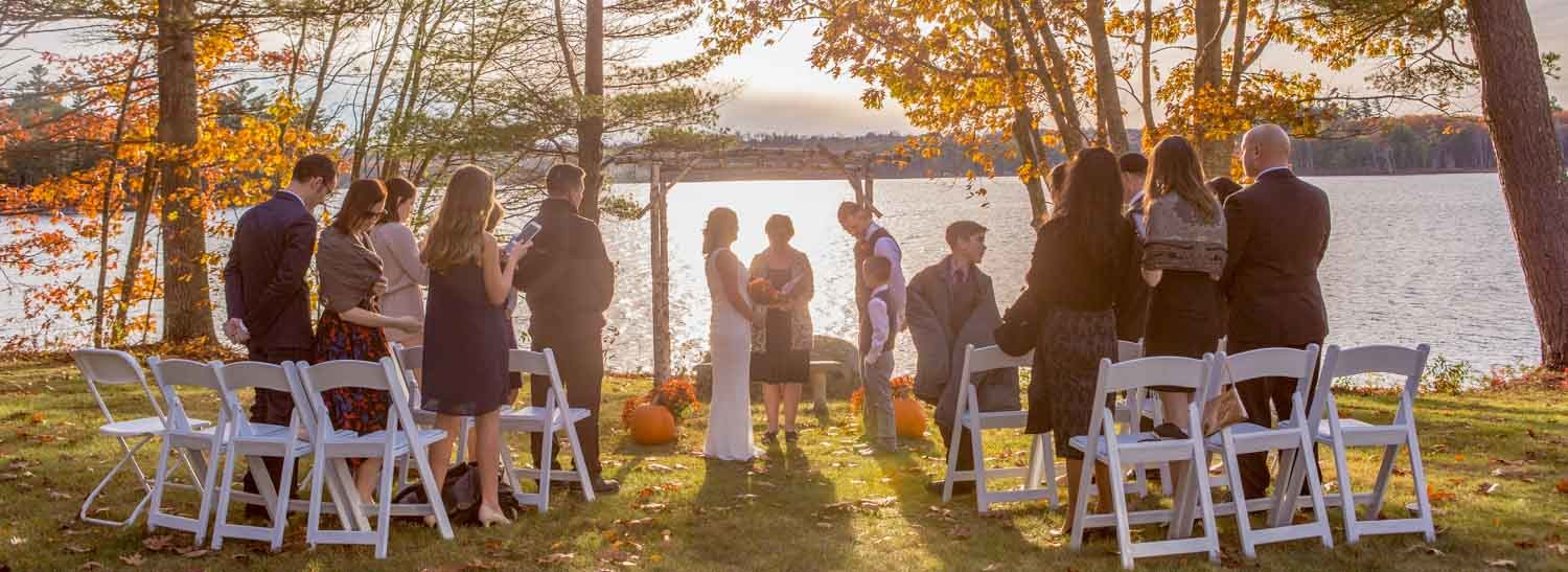 Fall Intimate Wedding At Wolf Cove Inn