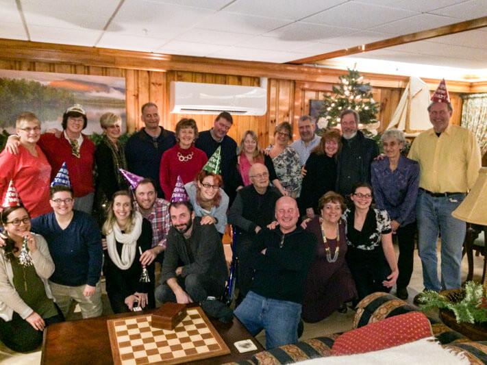 Group enjoying New Year's Eve
