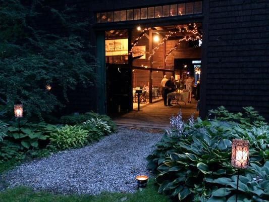 McLaughlin Garden Lighted Barn During Garden Illuminated Event