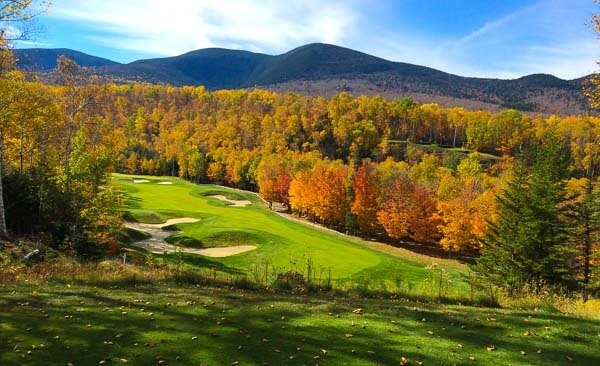 Golfing, one of many top attractions in Maine