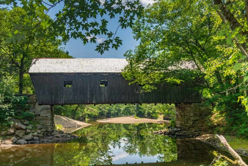 Lovejoy Covered Bridge in Andover Maine