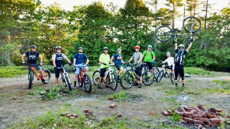 Mount Apatite off road biking trail in Maine