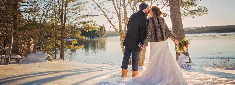 Lakeside Winter Wedding