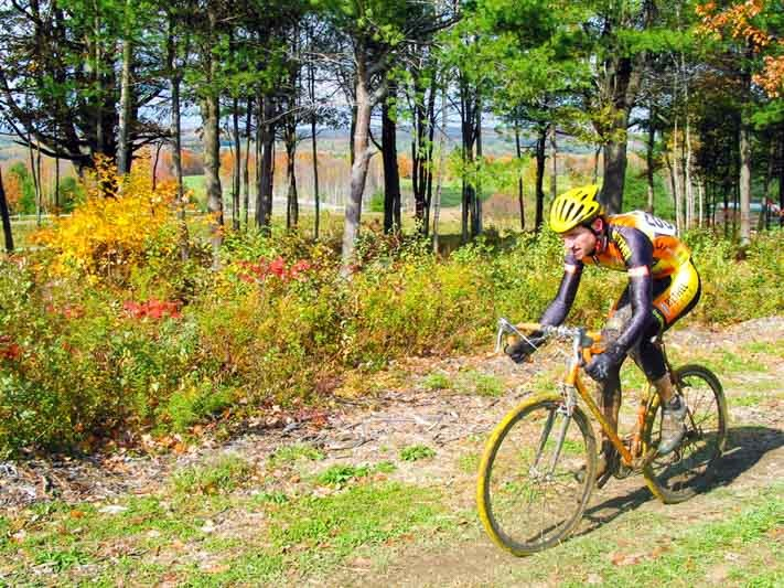 Pineland Farms off road biking trail in Maine