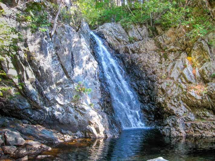 Poplar Stream waterfall in Carrabassett Valley Maine