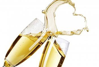 Champagne Toast making heart shape