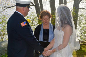 Spring lakeside intimate wedding at Wolf Cove Inn