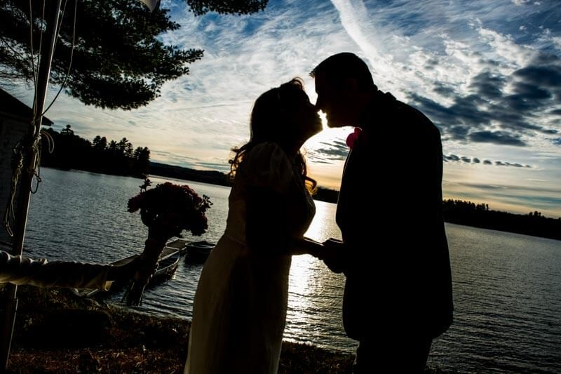 Couple Enjoying their Wedding Elopement Packages At Sunset