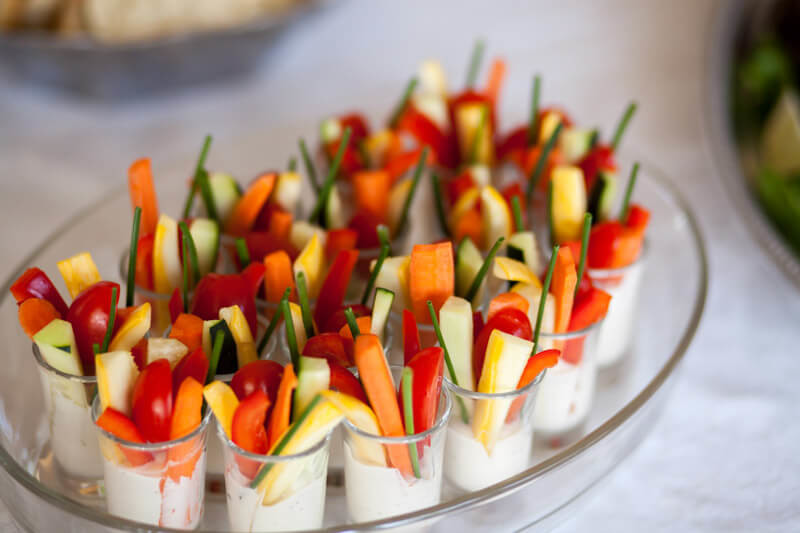 Veggie Dip Cup Appetizer-Part of Your Wedding Elopement Packages