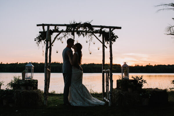 small Maine wedding overlooking the lake