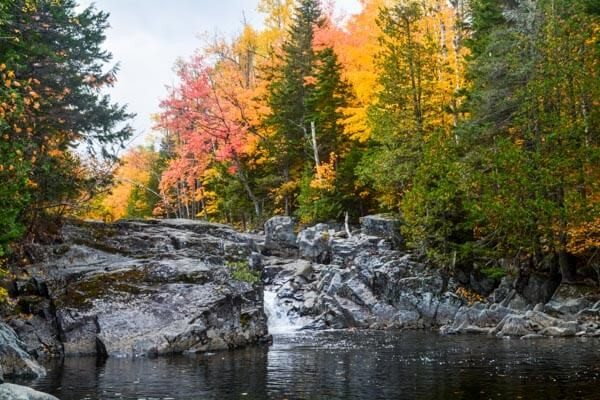 West Mountain Falls Maine