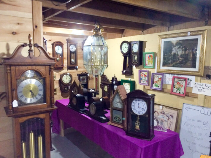 Antique Clocks at the Largest Flea Market in Maine