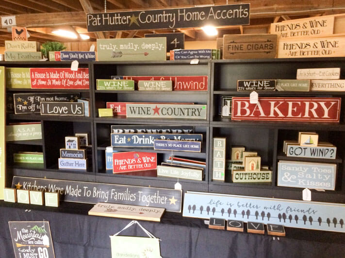 New Signs At The Willows Flea Market