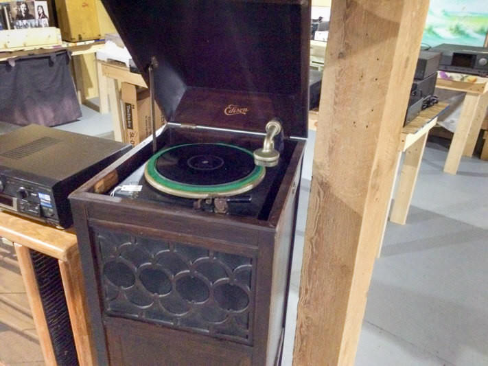 Old phonograph at Willows flea market