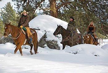 Winter-Horseback