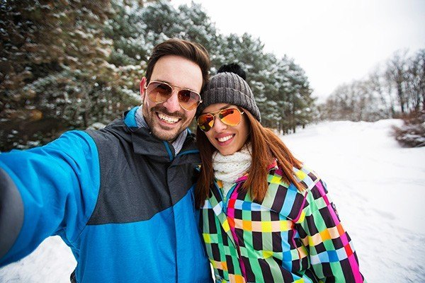 couple in the snow