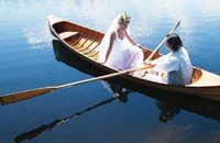 Maine Wedding Venue for Elopements - Bride and Groom on a Lake