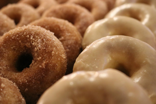 Close up of Cider Donughts