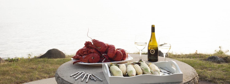 A tasty lobster dinner