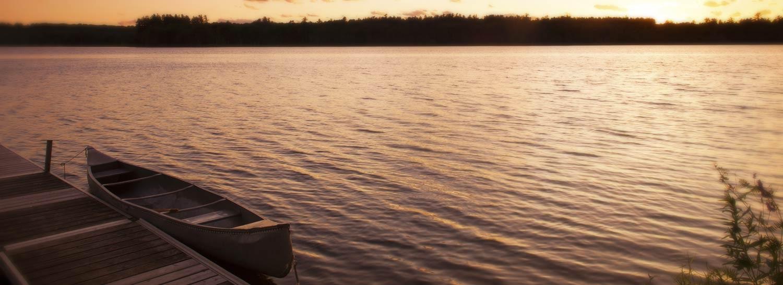tripp lake sunset