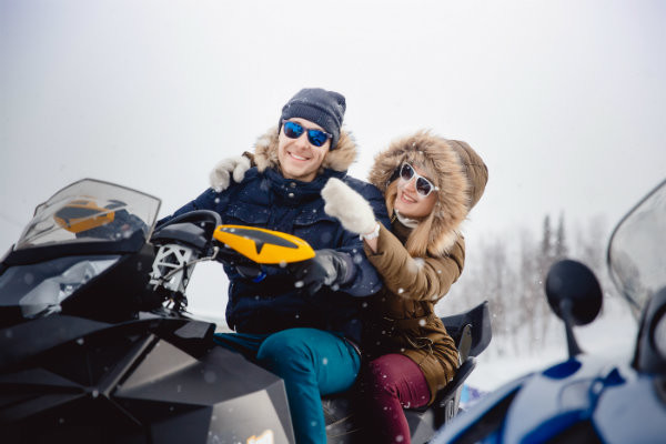 Winter Activities in Maine - Snowmobiling