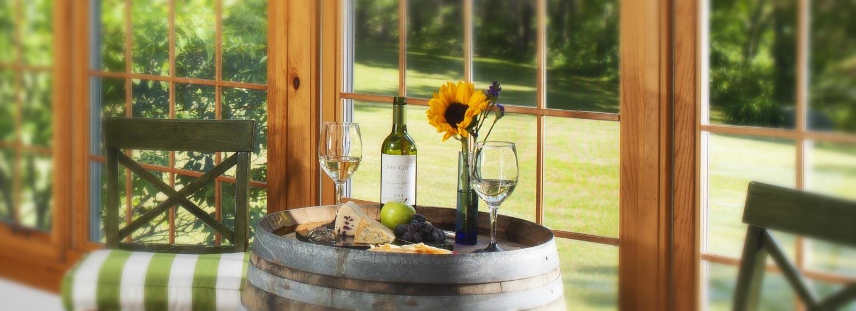 Wine in Sunroom