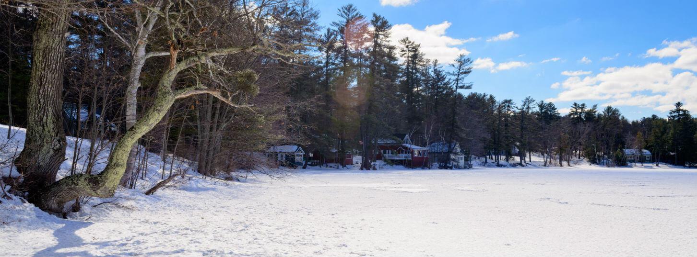 View around Wolf Cove Inn in Winter